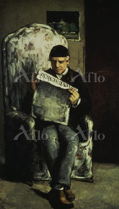 セザンヌ 「レヴェヌマン紙を読む画家の父」