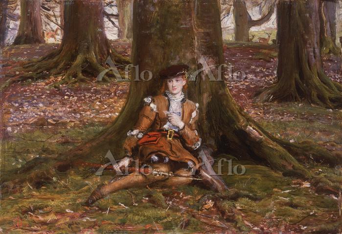 ミレイ 「森の中のロザリンド『お気に召すまま』より」
