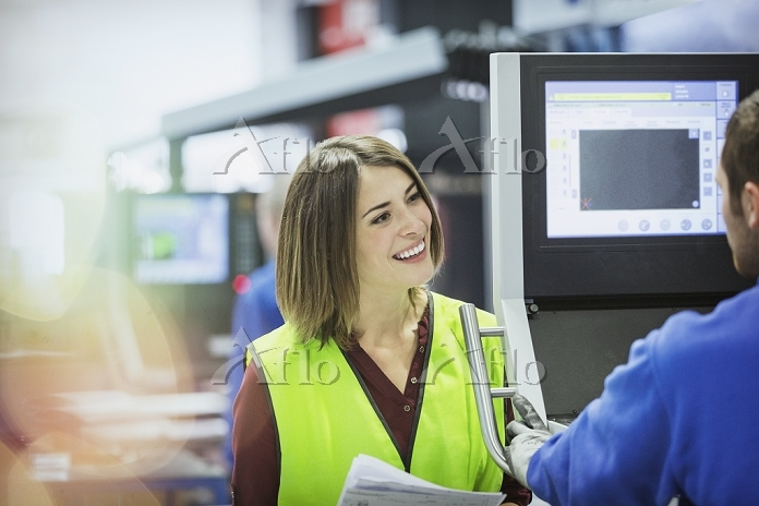 Smiling supervisor and worker ・・・