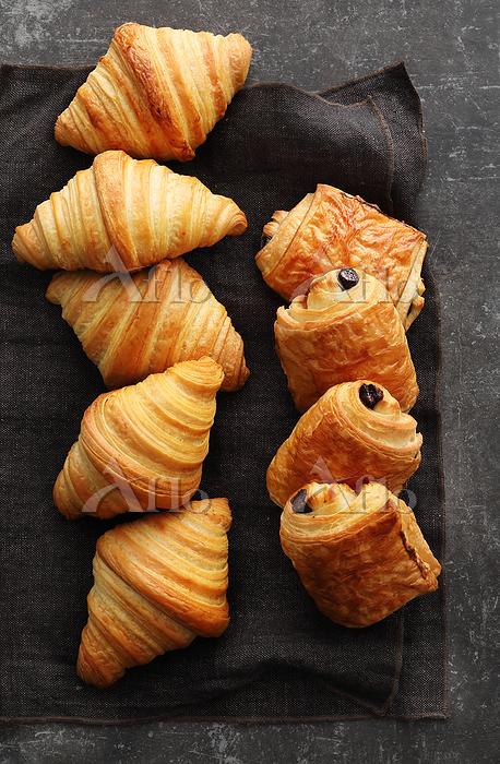 Pain au chocolat and croissant・・・