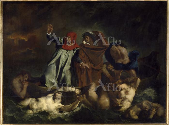 ドラクロワ 「ダンテの小舟(地獄のダンテとヴェルギリウス)」
