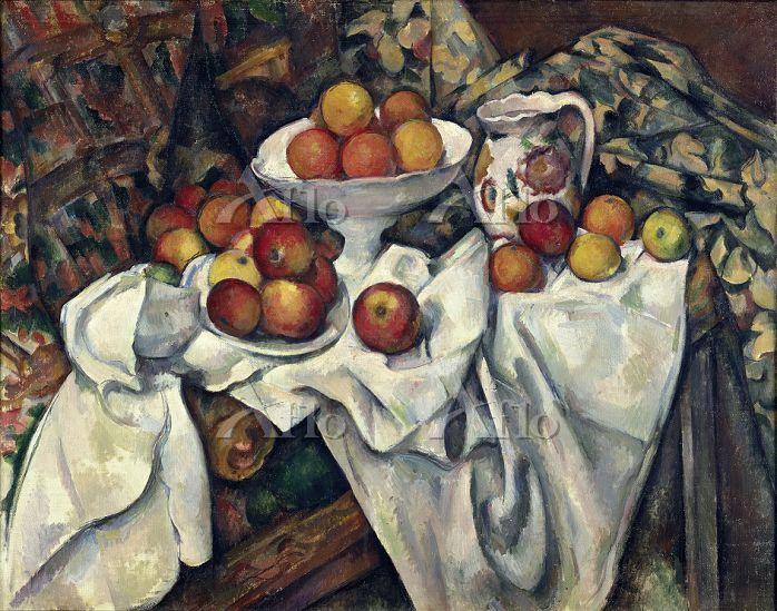 セザンヌ  「リンゴとオレンジ」