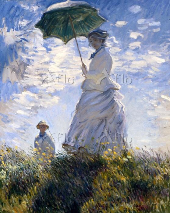 クロード・モネ 「散歩、日傘をさす女性」
