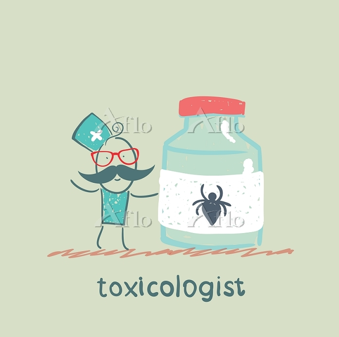 Toxicologist holds a jar of me・・・