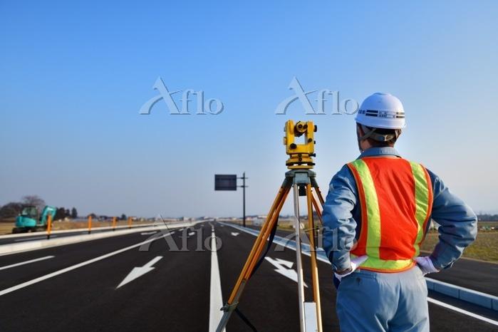 工事 道路測量 エンジニア