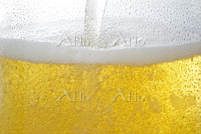ビールの泡 夏の食