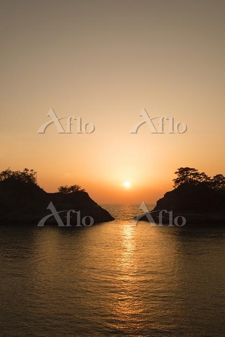 静岡県 堂ヶ島の夕日