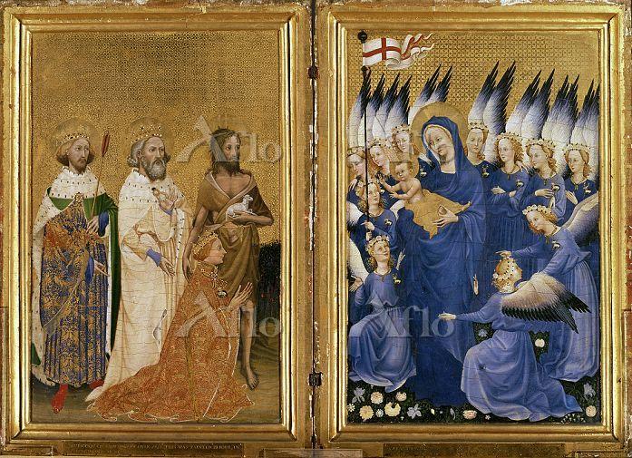 「守護聖人たちによって聖母子に紹介されるリチャード2世(ウィ・・・