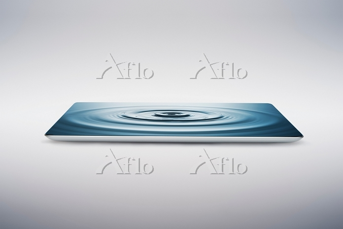 Digital tablet with water ripp・・・