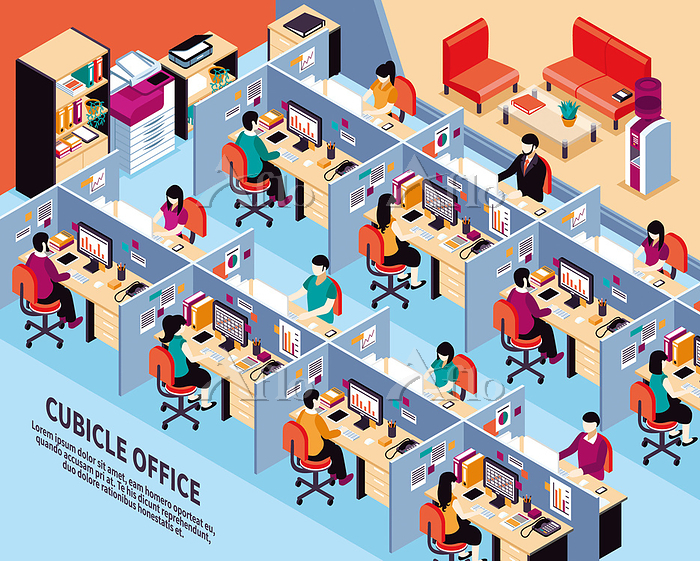 Office Workplace Isometric Vec・・・
