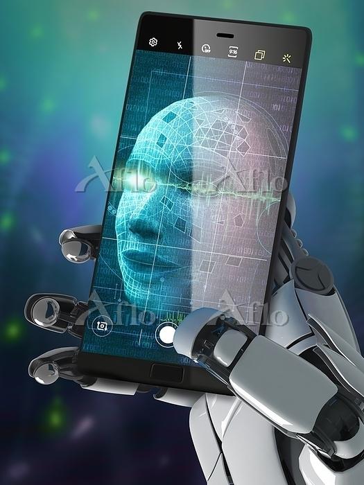 Illustration of a robot taking・・・