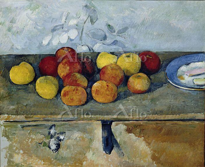 セザンヌ 「林檎とビスケット(リンゴとビスケット)」