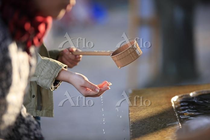 東京都 清める 増上寺 手水舎
