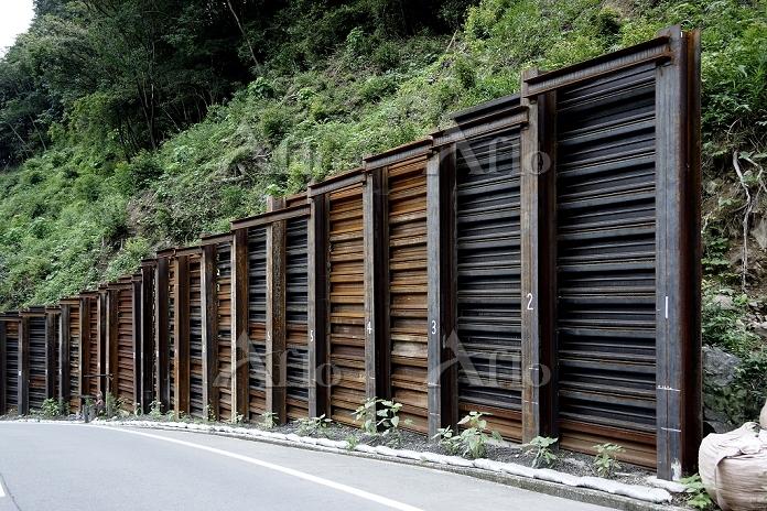 和歌山県 土砂崩れ防止壁