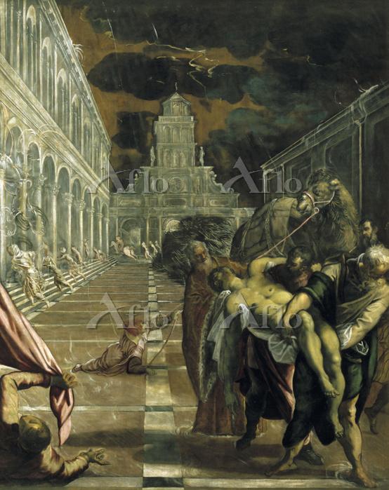 ティントレット 「聖マルコの遺骸を焼却から救うアレクサンドリ・・・