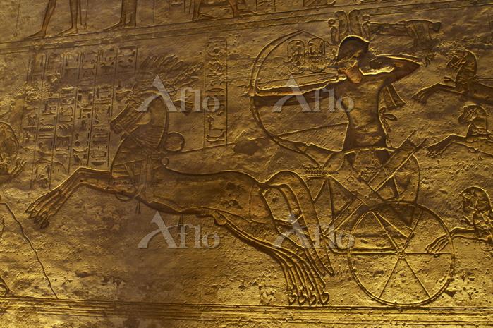 エジプト アブ・シンベル神殿 カデシュの戦いでのラムセス2世
