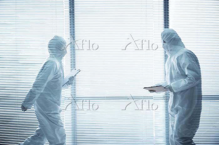 The medical team work