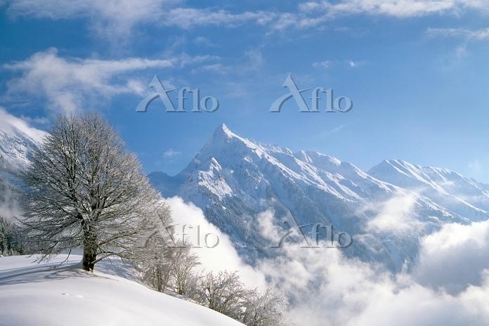 オーストリア チロル地方 雪山