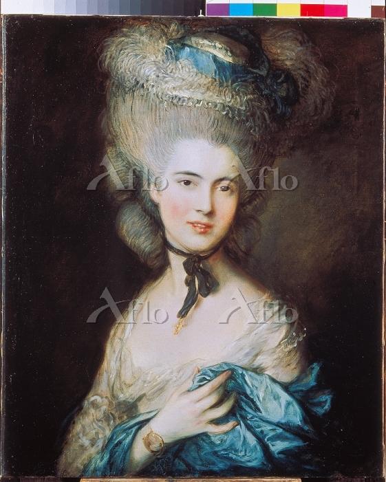 トマス・ゲインズバラ 「青い服を着た婦人の肖像」