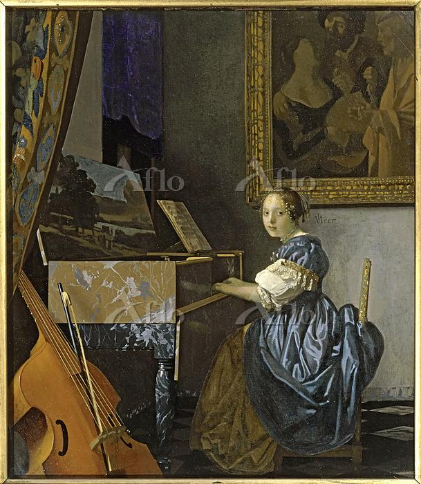 フェルメール「ヴァージナルの前に座る女 」
