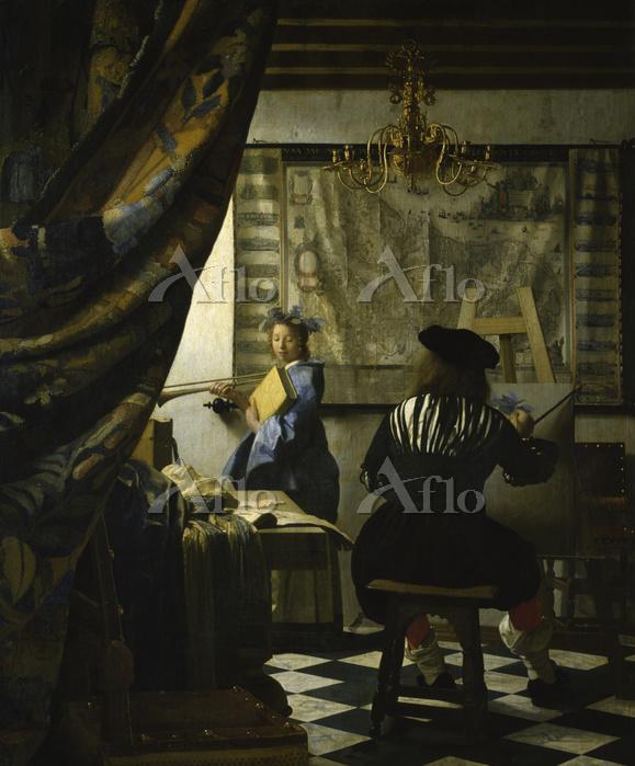 フェルメール 「絵画芸術(画家のアトリエ)」