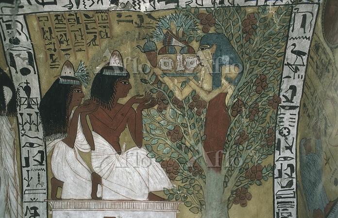 エジプト センネジェムの墓 壁画