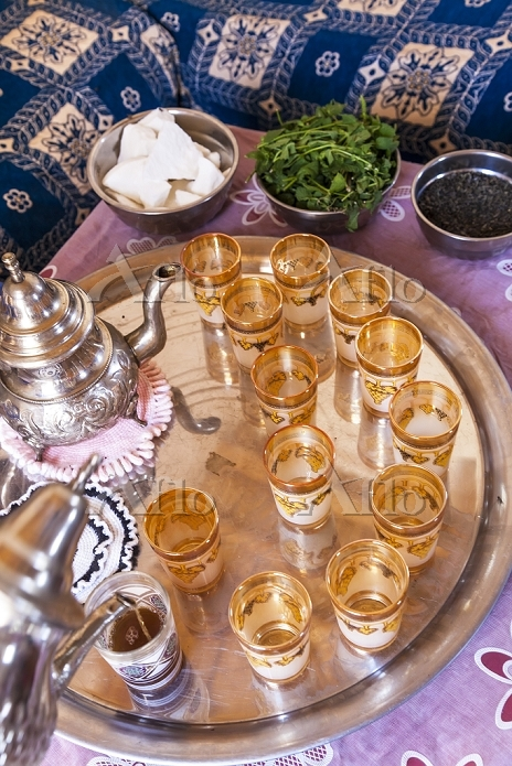 Pouring mint tea, Morocco, Pho・・・