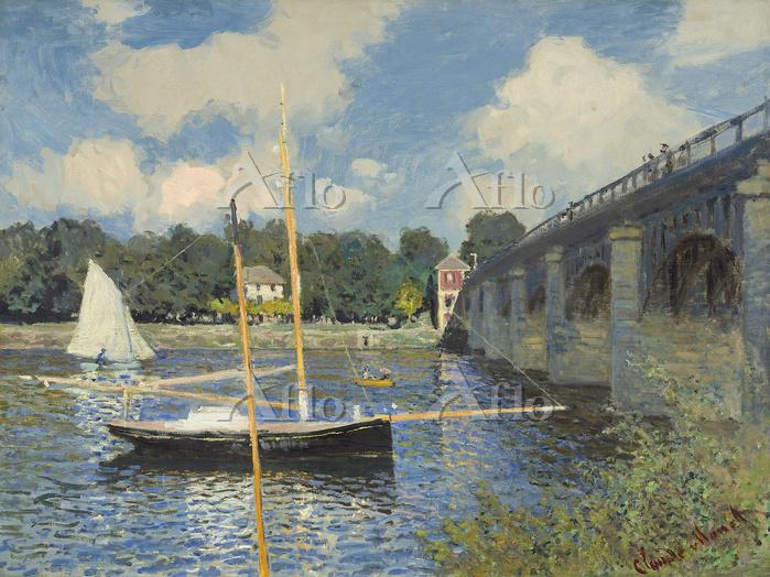 クロード・モネ 「アルジャントゥイユで、道路橋」