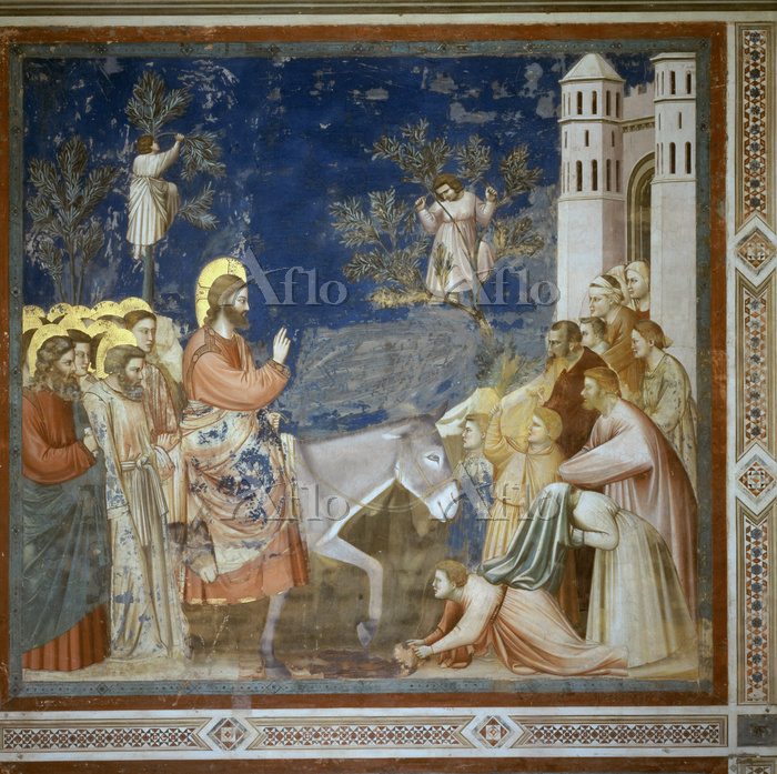 ジョット 「エルサレム入城」