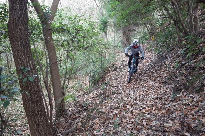 マウンテンバイクに乗る少年