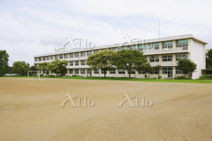 学校と校庭