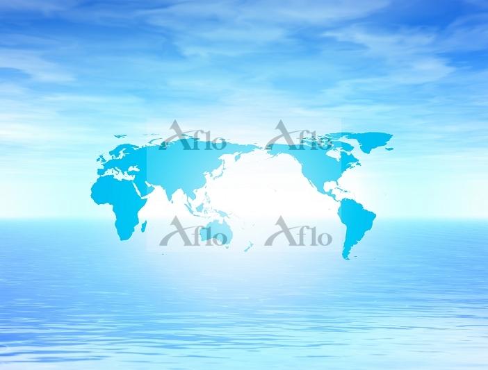 世界地図 CG