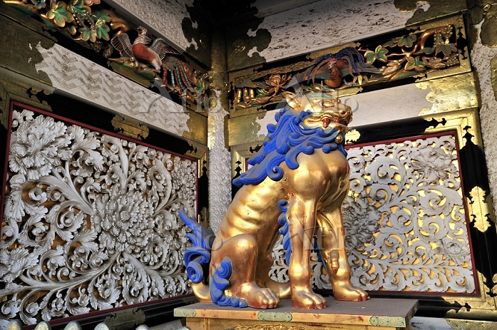 日光東照宮陽明門の獅子像
