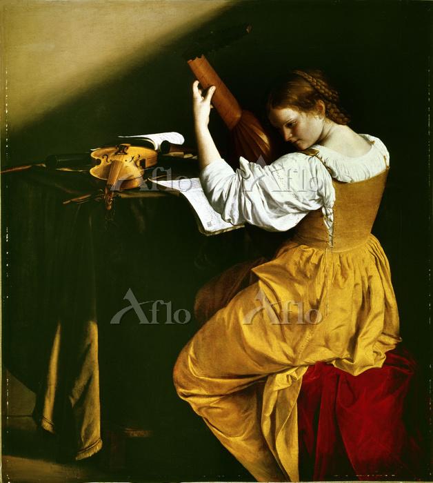 オラツィオ・ジェンティレスキ 「リュート奏者」