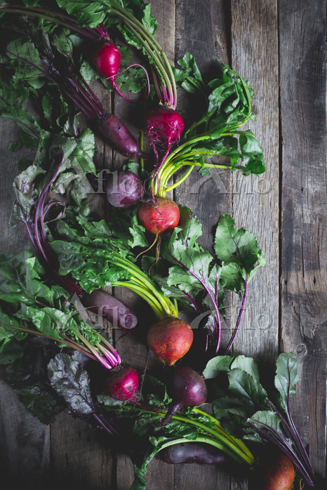 Golden, red, and purple beets ・・・