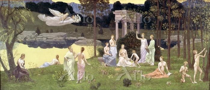 シャヴァンヌ 「諸学芸とミューズたちの聖なる森」
