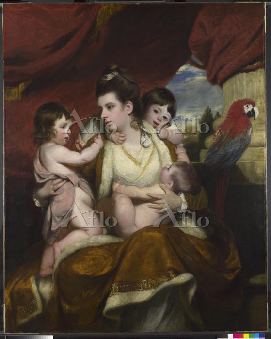ジョシュア・レノルズ「コーバーン卿夫人と3人の息子」