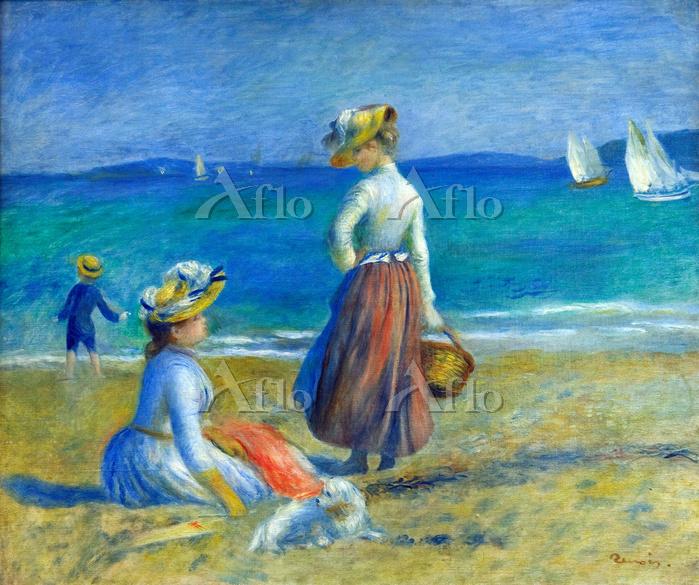ルノワール 「浜辺の人物」