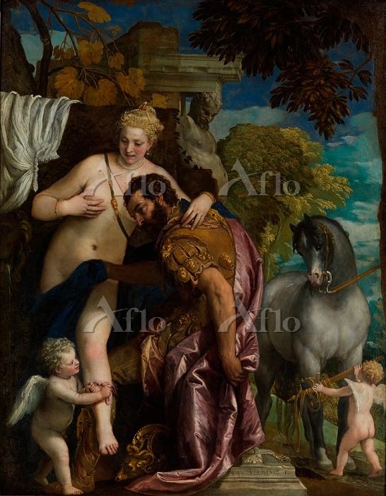 ヴェロネーゼ 「キューピッドによって結ばれるマルスとヴィーナ・・・