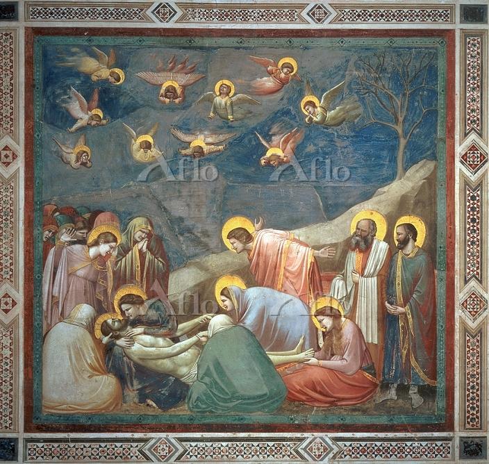 ジョット 「キリストの哀悼(スクロヴェーニ礼拝堂壁画連作)」