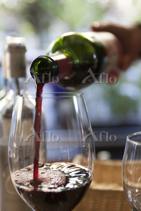 Wine Pouring into Glass