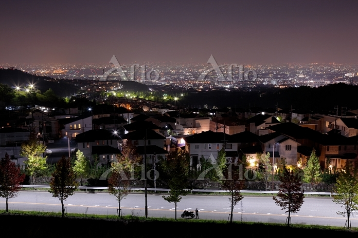 大阪平野の夜景