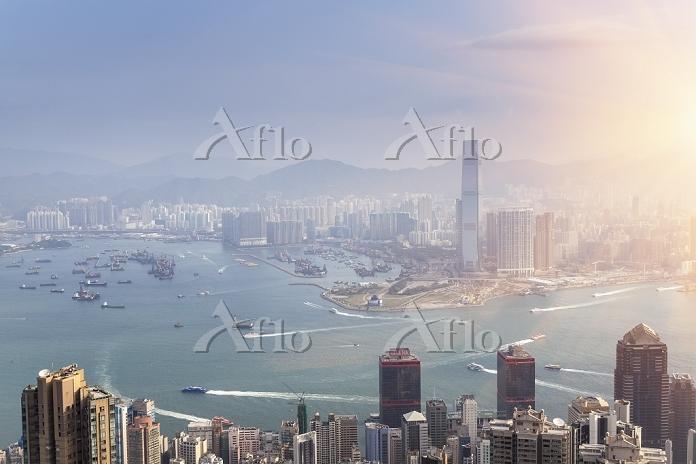 中国 香港 ヴィクトリア湾