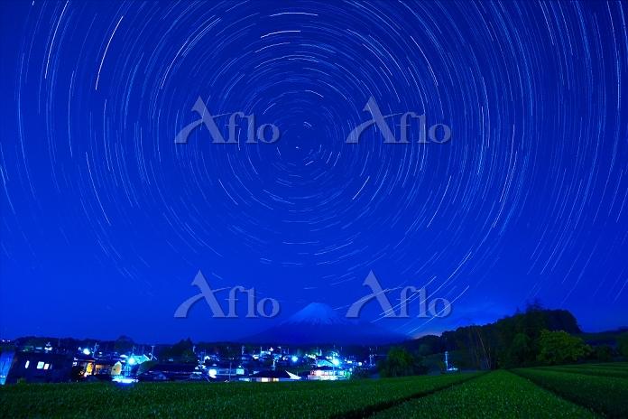 静岡県 富士山と星の日周運動