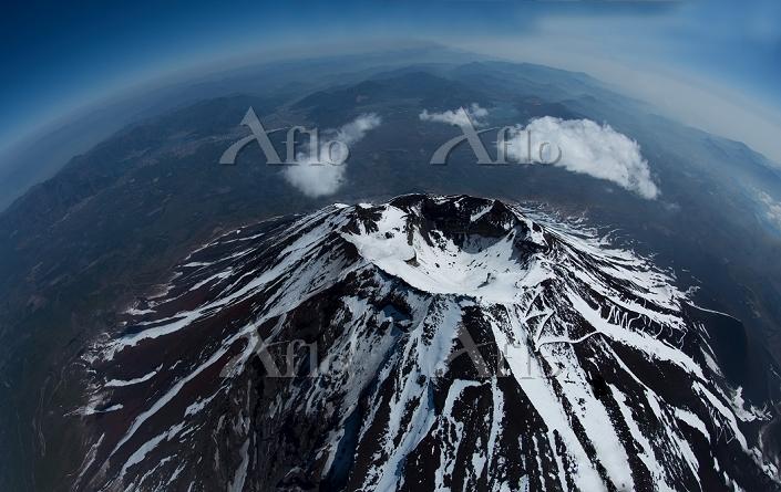 静岡県 富士山山頂付近 魚眼レンズ(4,000m)