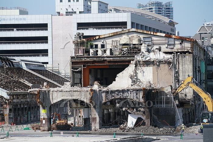 東京 築地市場の解体工事