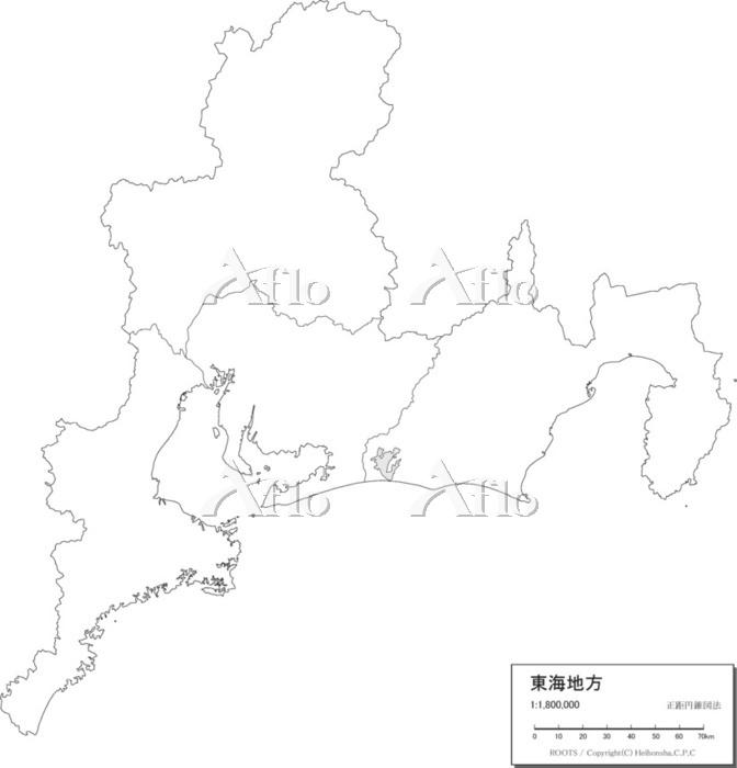 東海地方 白地図
