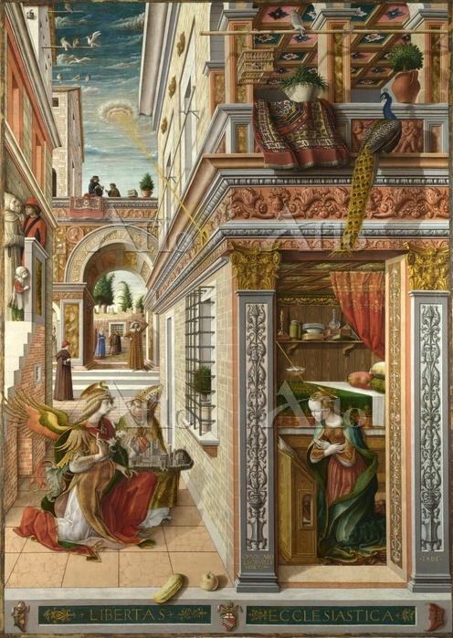 クリヴェッリ「聖エミディウスを伴う受胎告知」