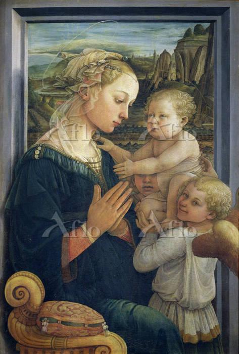 フィリッポ・リッピ 「聖母子と二天使」
