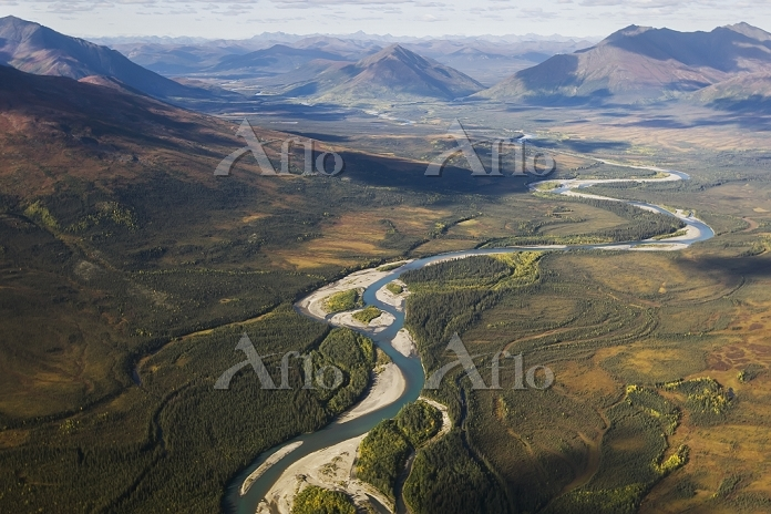 Aerial Of Noatak River In The ・・・